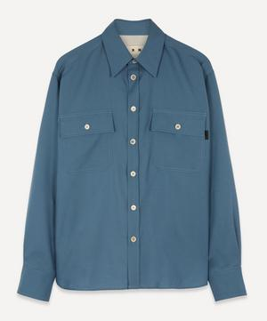 Two-Pocket Tropical Wool Shirt