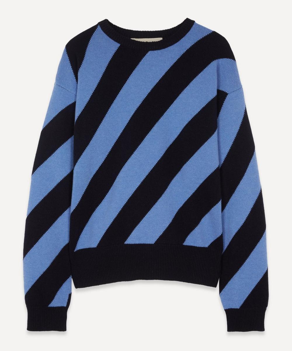Marni - Diagonal Bold Stripe Knitted Jumper
