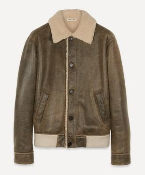 Brushed Vintage Shearling Jacket