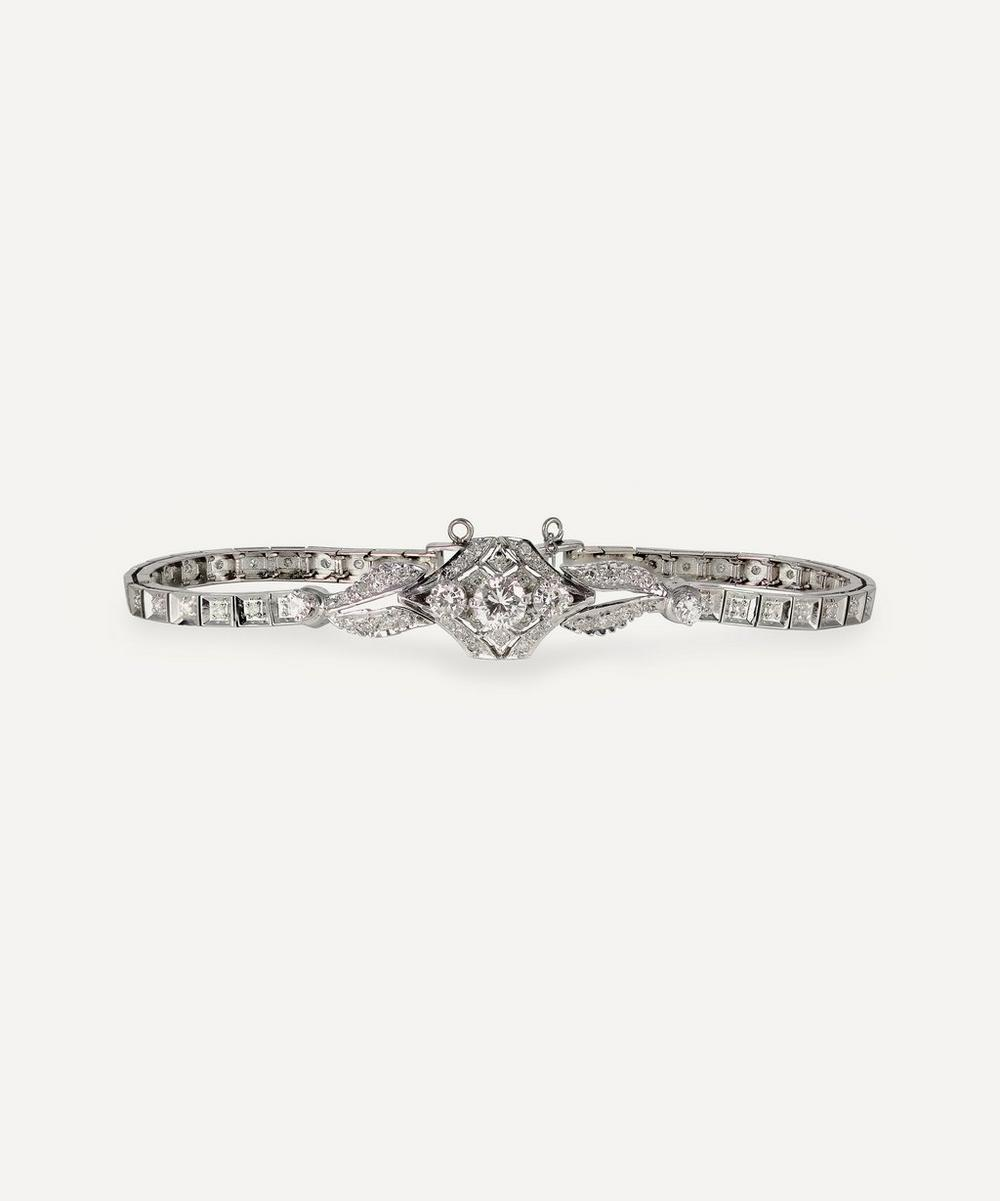 Kojis - White Gold Art Deco Diamond Bracelet