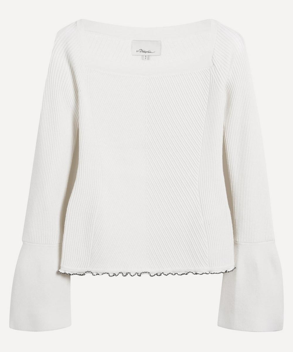 3.1 Phillip Lim - Flare Cuff Ribbed Wool Jumper