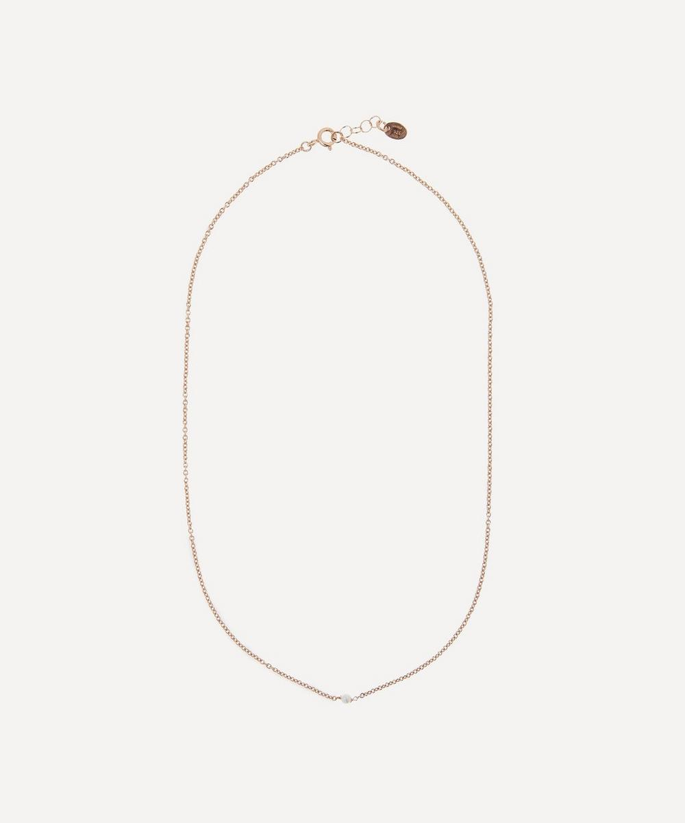 Stephanie Schneider - Rose Gold-Plated Akoya Pearl Necklace