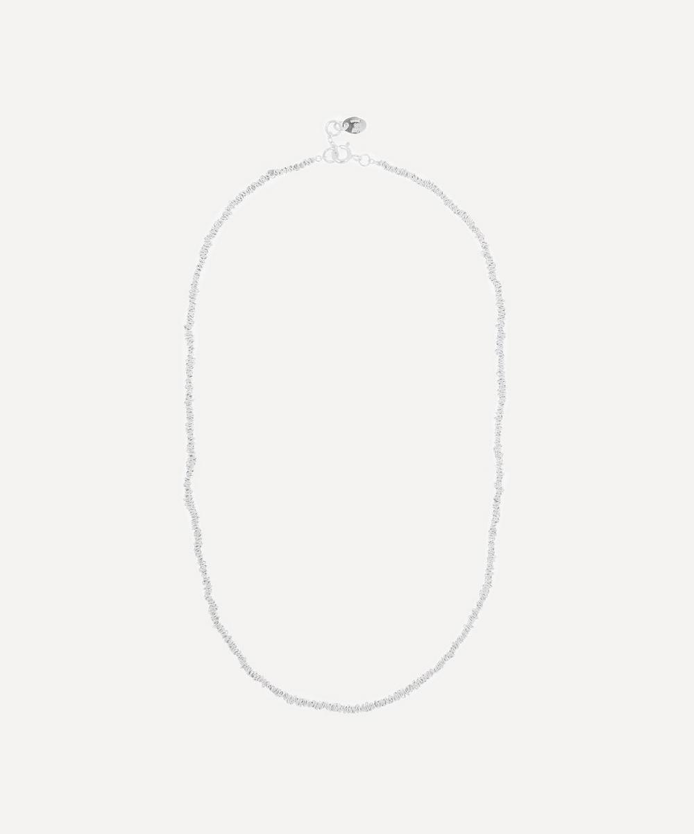 Stephanie Schneider - Silver Textured Chain Necklace