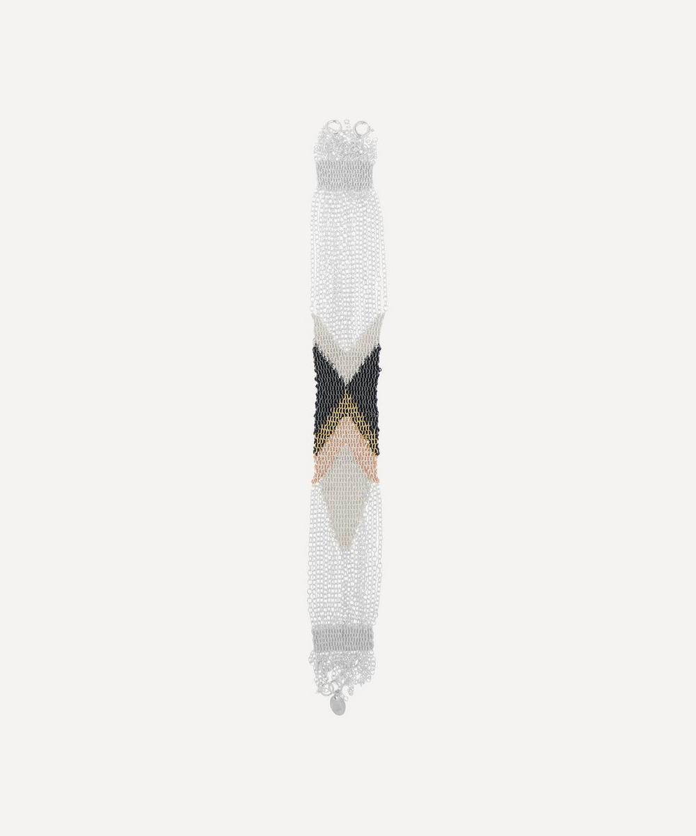 Stephanie Schneider - Silver Wide Silk Chain Bracelet