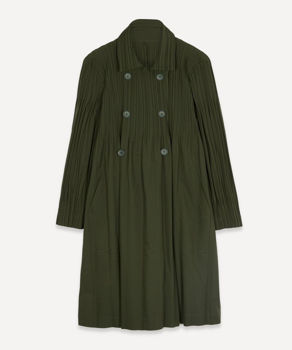 Pleats Please Issey Miyake - Jaunty Buttoned Coat