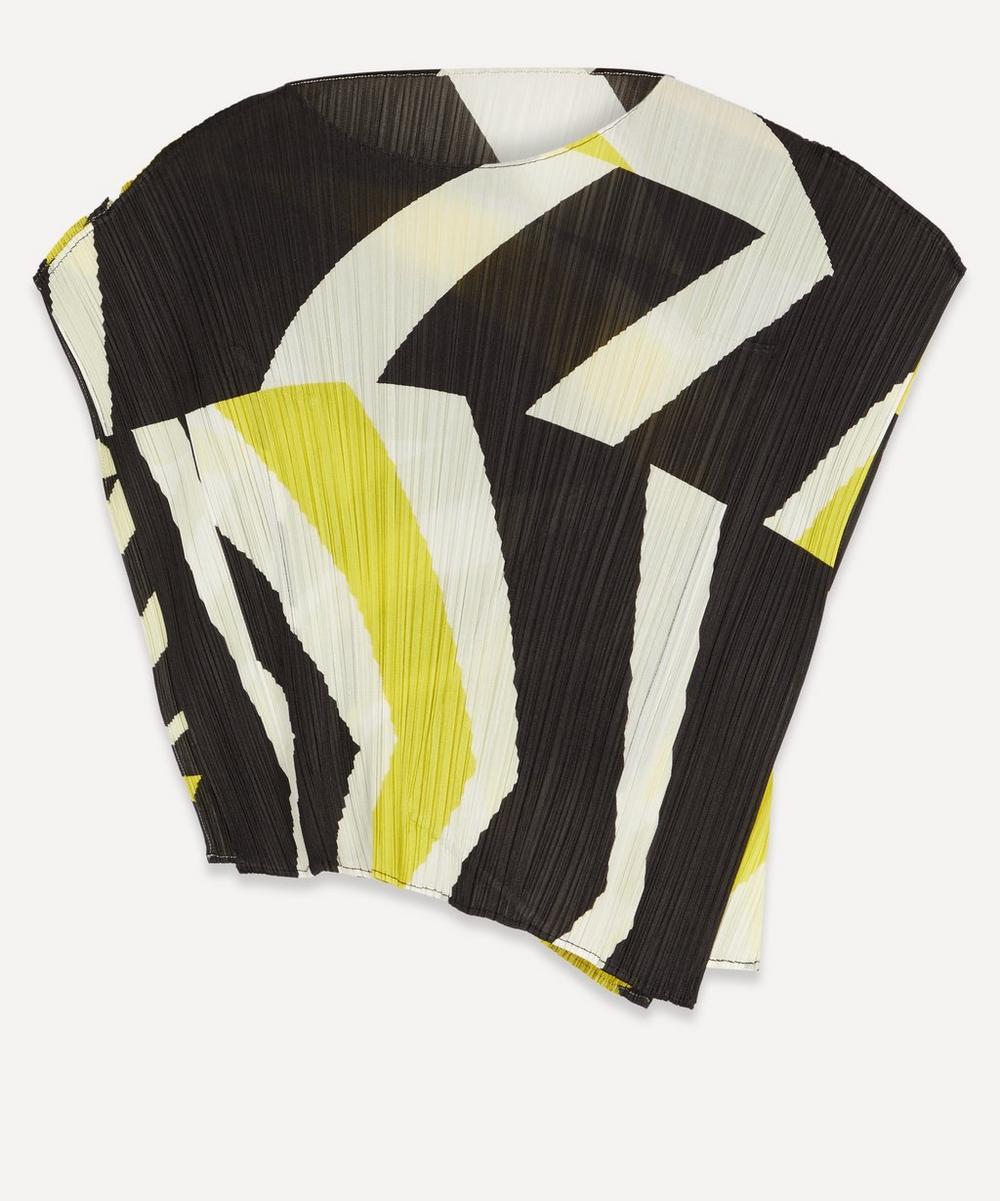 Pleats Please Issey Miyake - Motion Print Short-Sleeved Top
