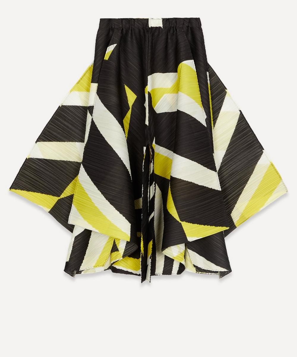 Pleats Please Issey Miyake - Motion Print A-Line Trousers