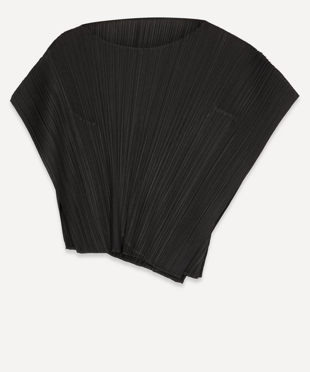 Pleats Please Issey Miyake - Asymmetric Short-Sleeved Top