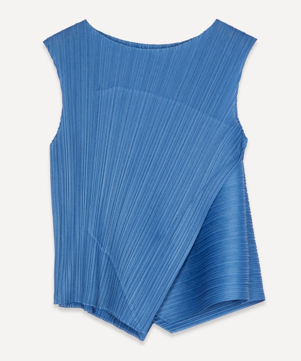 Pleats Please Issey Miyake - Fold-Over Sleeveless Top