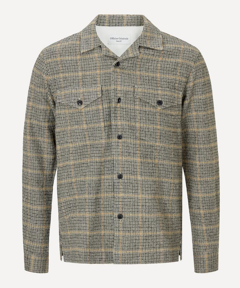 Officine Générale - Jonas Brushed Wool-Cotton Overshirt