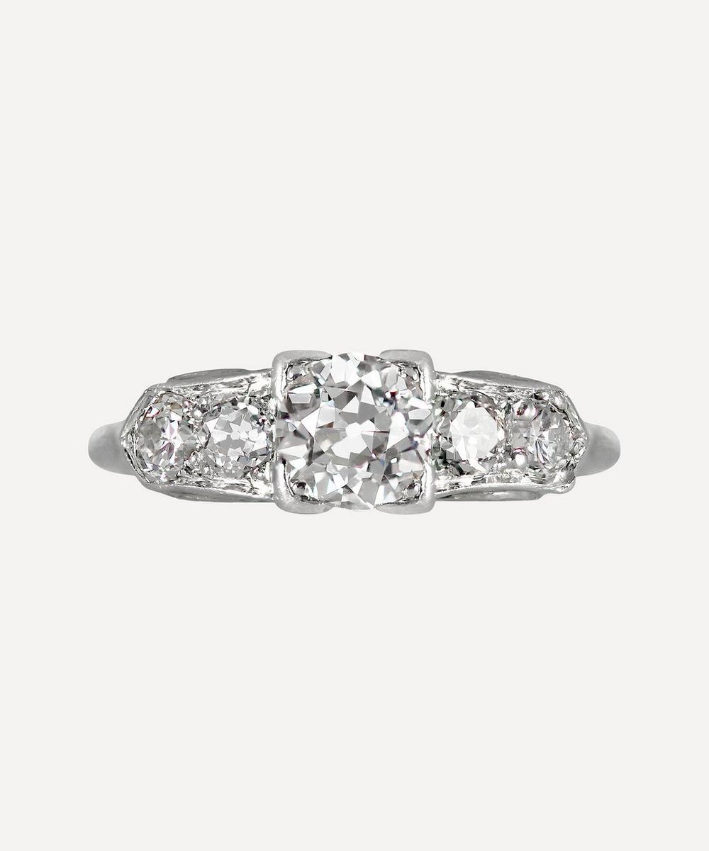 Kojis - White Gold Art Deco Diamond Ring