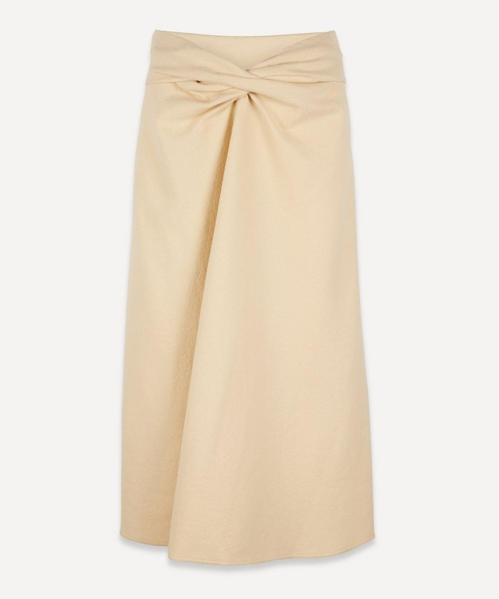 Lemaire - Twist Front Wool Midi-Skirt