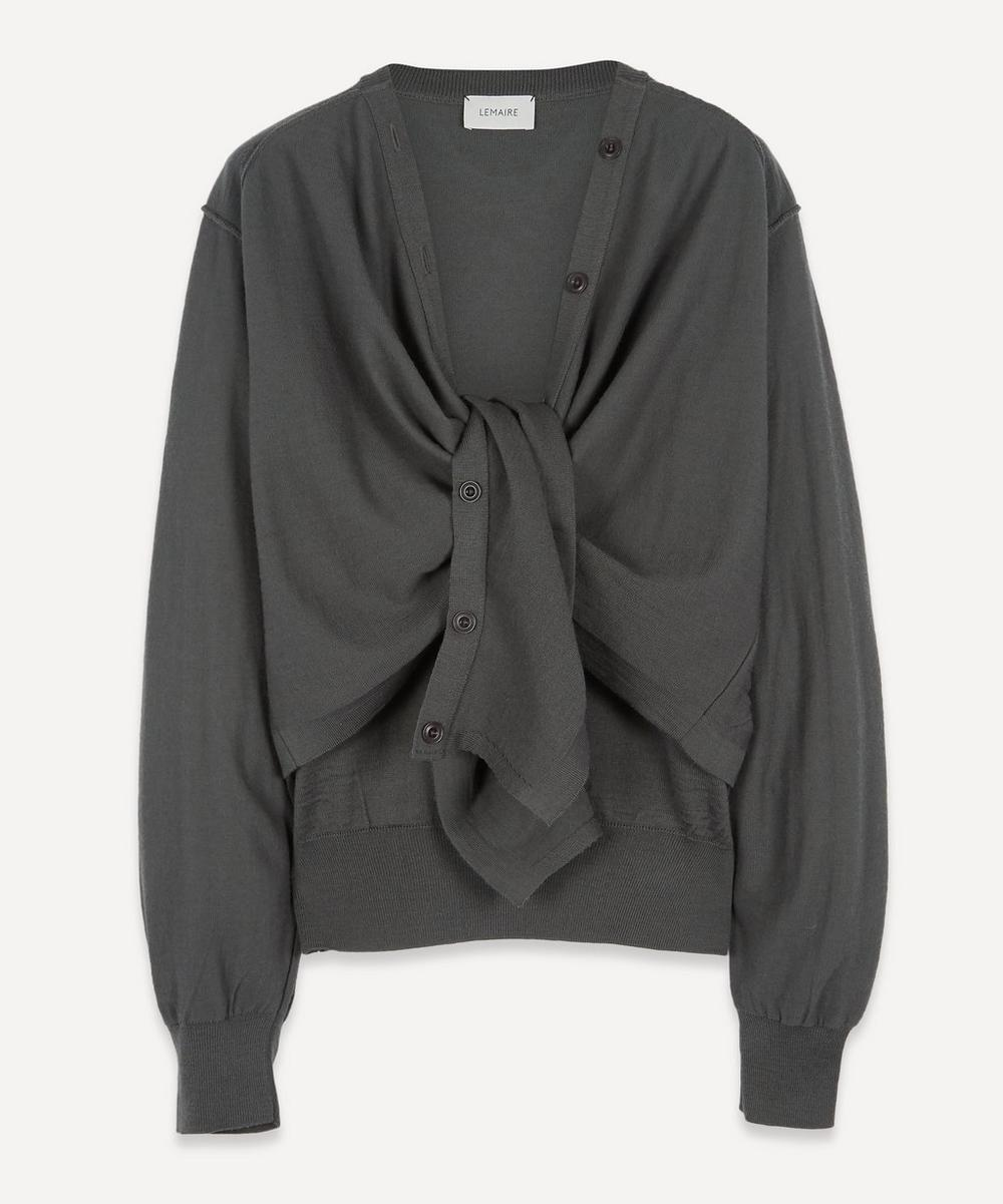 Lemaire - Knot-Front Wool-Blend Cardigan Sweater