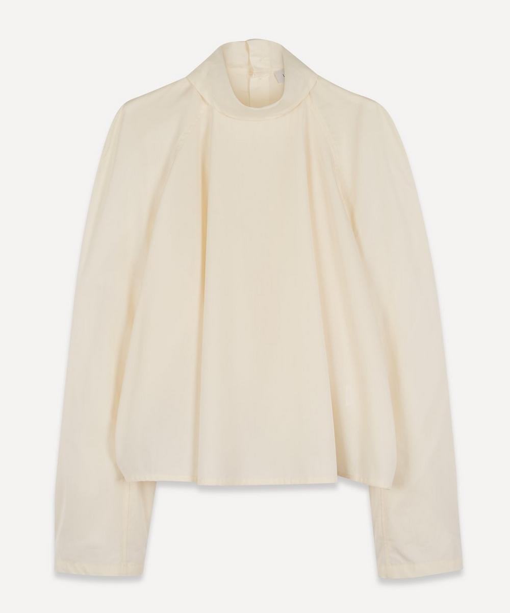 Lemaire - High-Neck Cotton-Poplin Blouse