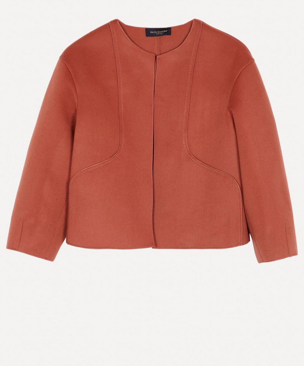 Piazza Sempione - Collarless Wool-Alpaca Jacket