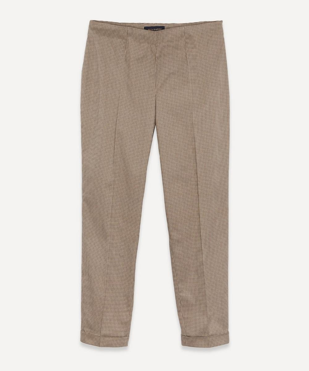 Piazza Sempione - Houndstooth Tapered Trousers
