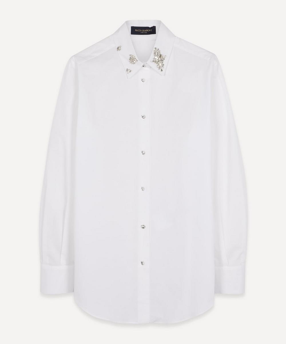Piazza Sempione - Diamante Collar Cotton Shirt