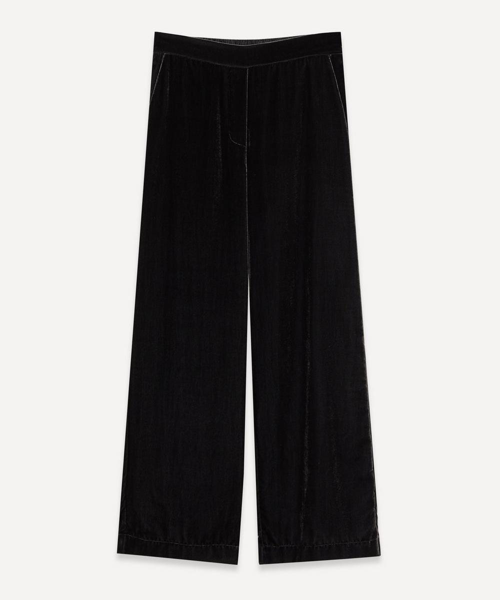 Piazza Sempione - Fluid Velvet Crop Trousers