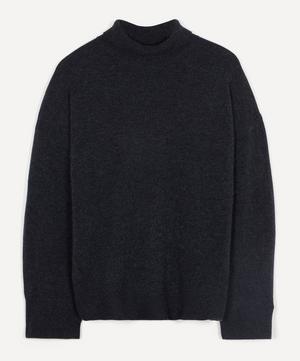 Roll-Neck Oversized Cashmere Knit