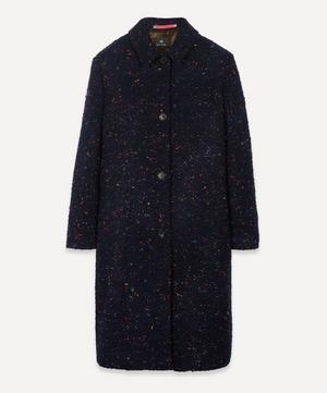 Nep Wool-Blend Epsom Coat