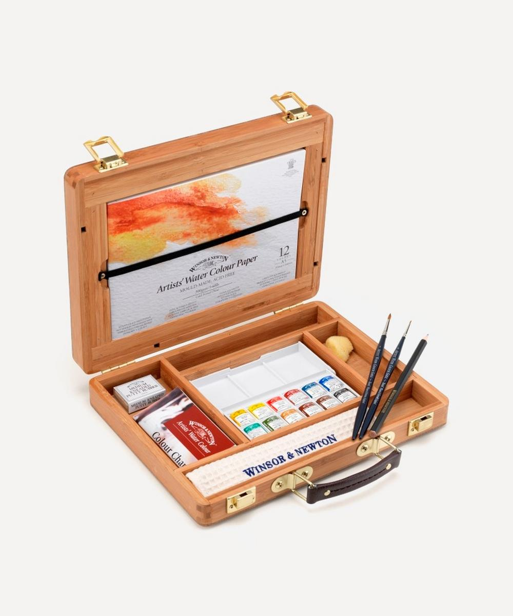 Winsor & Newton - Artists' Water Colour Half Pan Bamboo Box Set