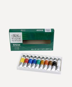 Winton Oil Colour Paints Starter Set of 10 21ml