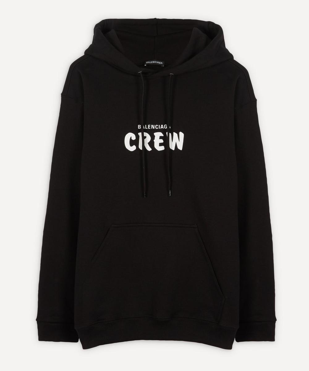 Balenciaga - Crew Cotton Logo Hoodie