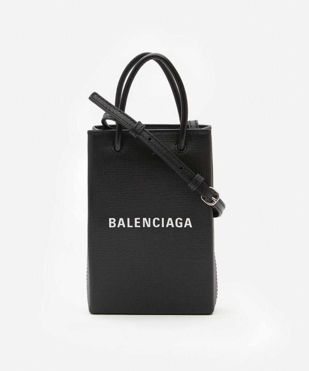 Balenciaga - Shopping Leather Phone Holder