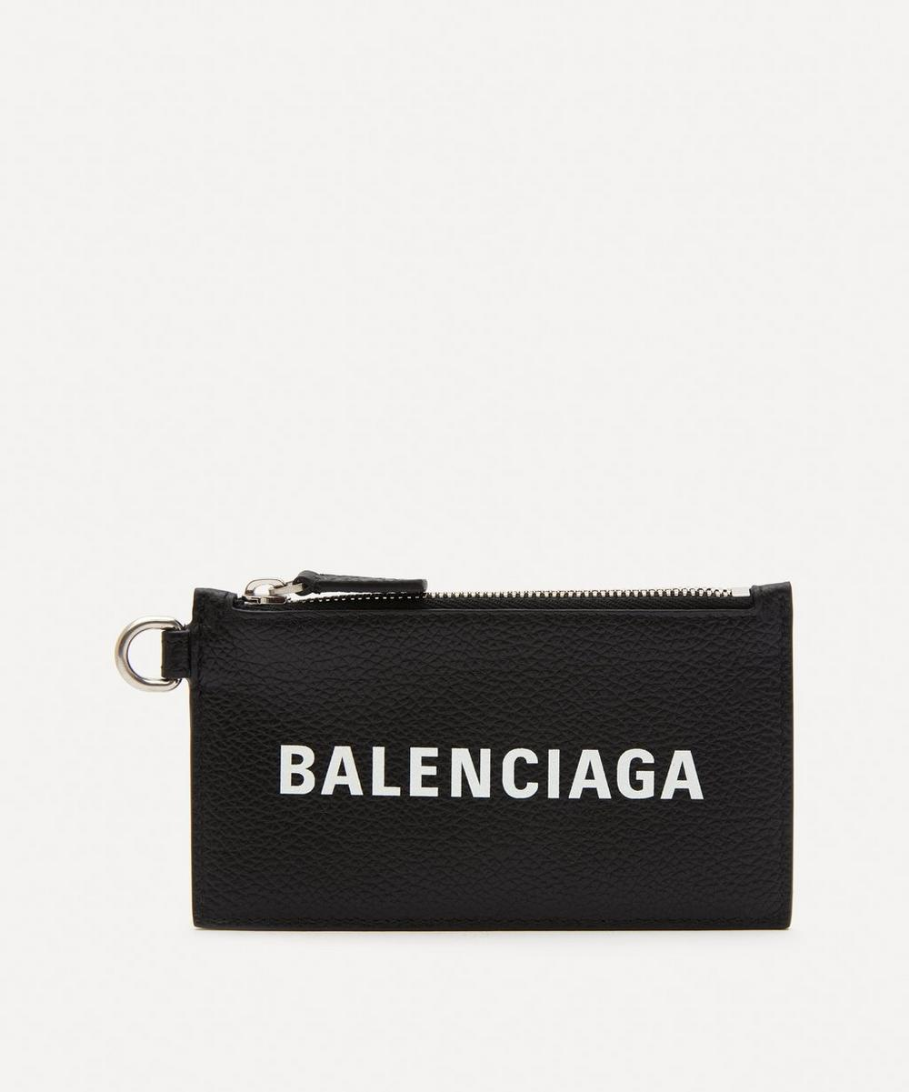 Balenciaga - Leather Logo Keyring Card Case