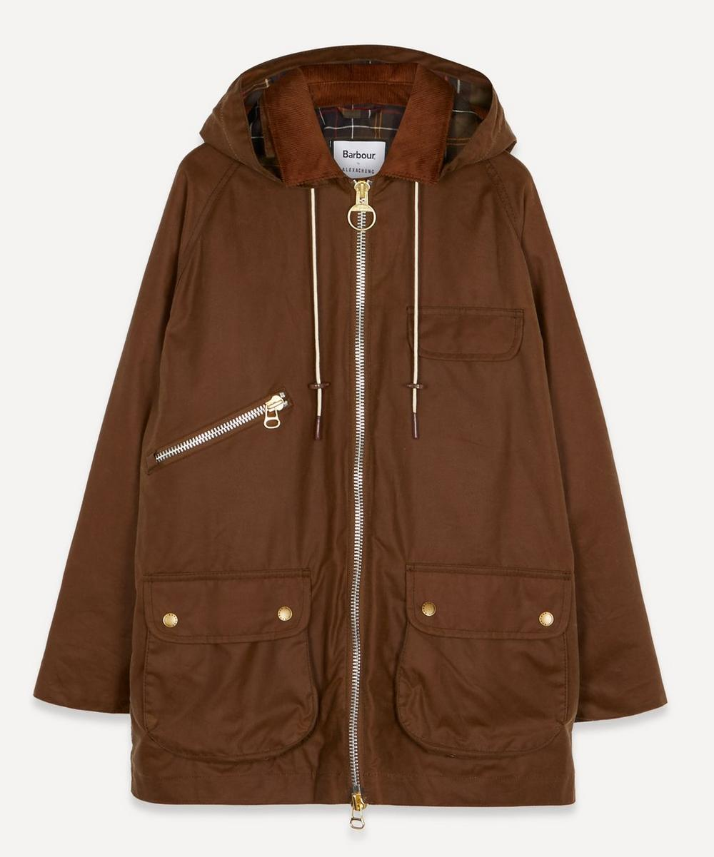 Barbour - x ALEXACHUNG Violet Hooded Wax Jacket