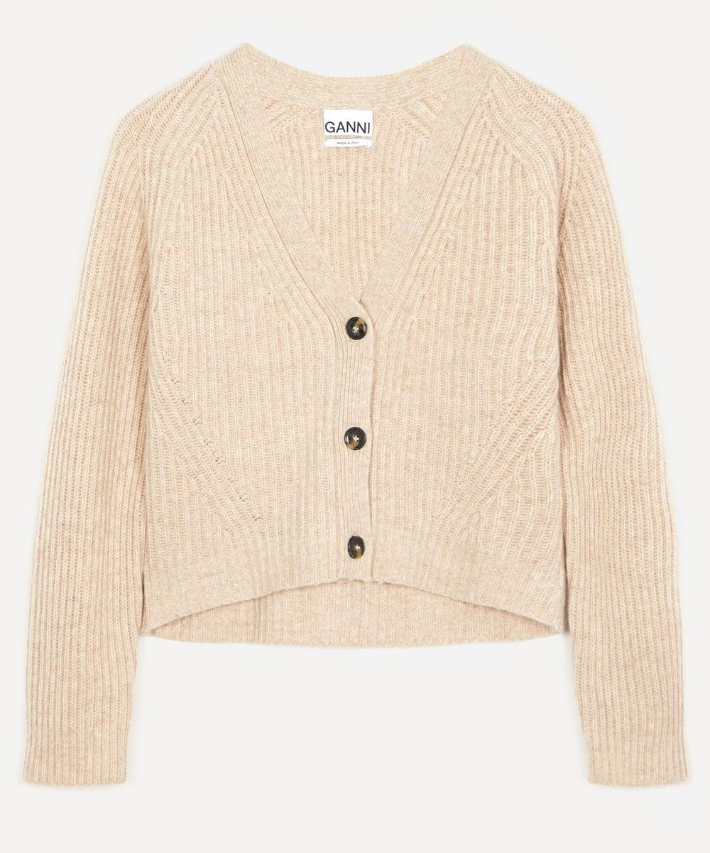 Ganni - Rib Knit Cropped Cardigan