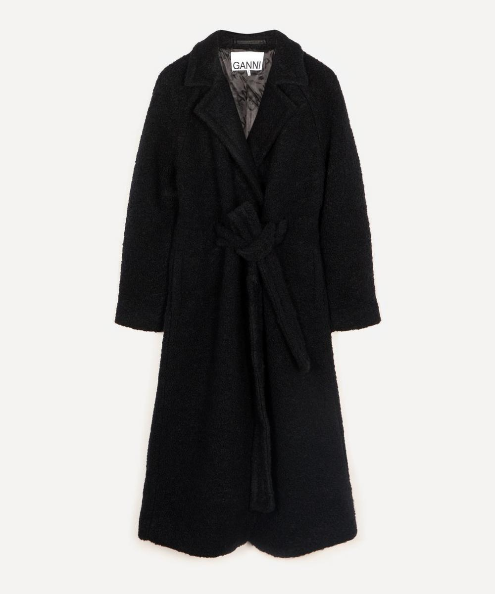 Ganni - Bouclé Wool-Blend Long Coat