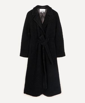Bouclé Wool-Blend Long Coat