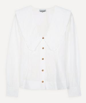 Exaggerated Collar Button-Up Shirt