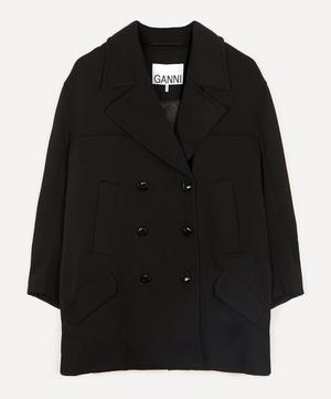 Double-Breasted Twill Jacket