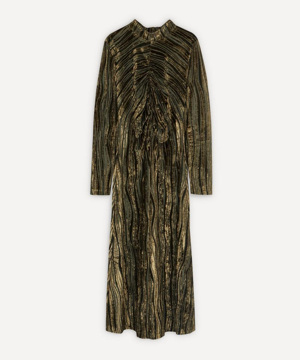 Stine Goya - Asher Ruched Velvet Dress
