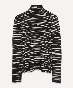 Anne Zebra Roll-Neck Top