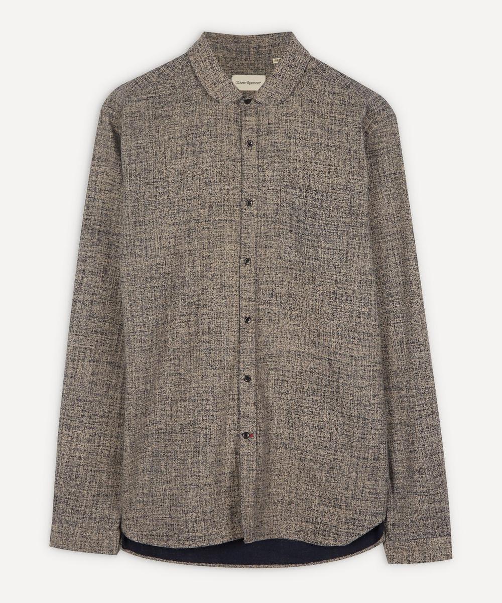 Oliver Spencer - Eton Round-Collar Marl Shirt