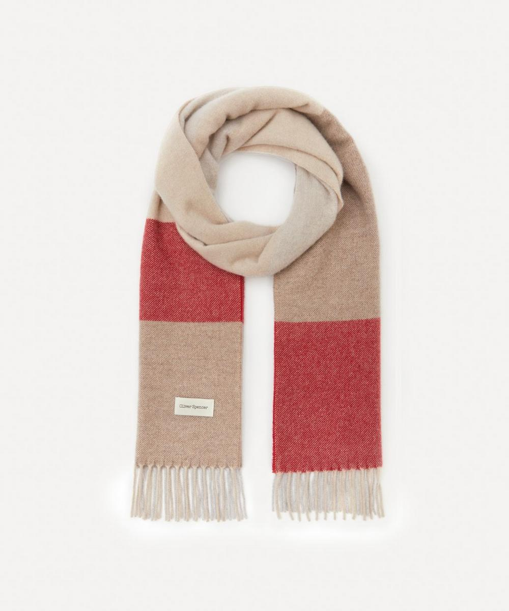 Oliver Spencer - Folly Checked Wool-Blend Scarf
