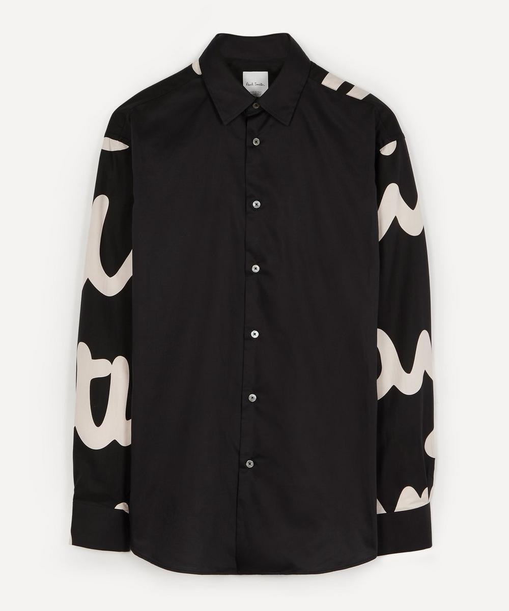 Paul Smith - Oversized Contrast Logo Shirt