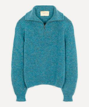 Cero Unisex Zip-Up Knit Sweater