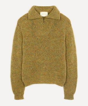 Cero Unisex Zip-Up Knit Sweater