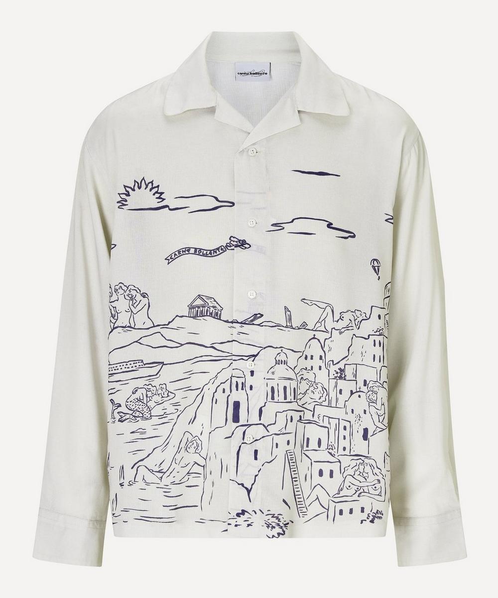 Carne Bollente - The Agoral Town Open-Collar Shirt