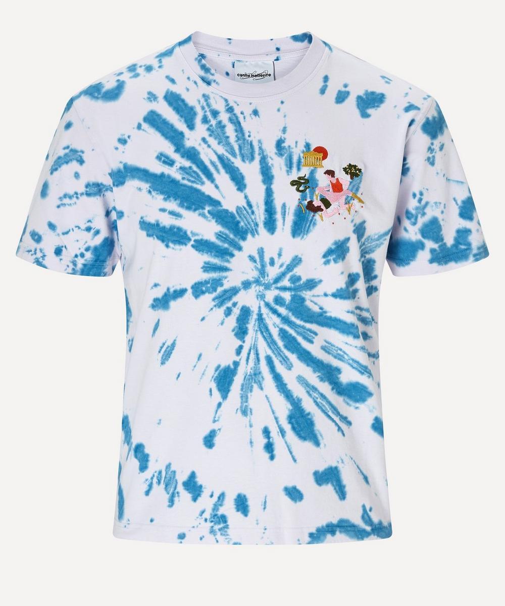 Carne Bollente - Ben Dure Embroidered Tie-Dye T-Shirt