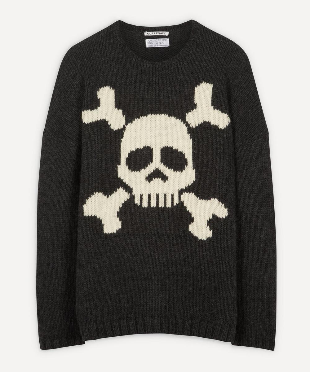 Our Legacy - Skull Virgin Wool-Blend Knit Jumper