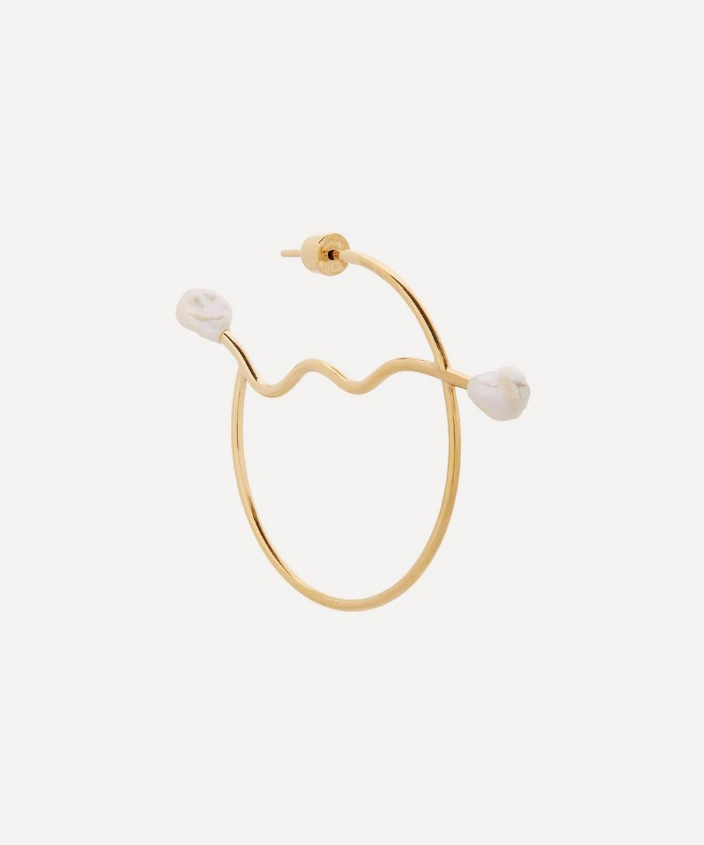Maria Black - Gold-Plated Solare Pearl Hoop Earring