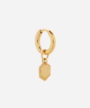 Gold-Plated Ravello Huggie Hoop Earring