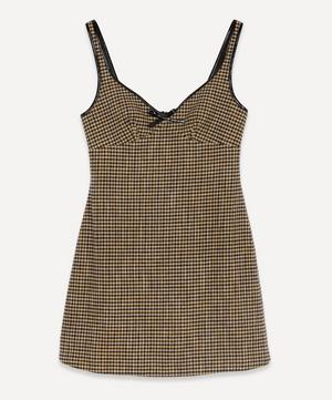 Check Sleeveless Mini-Dress