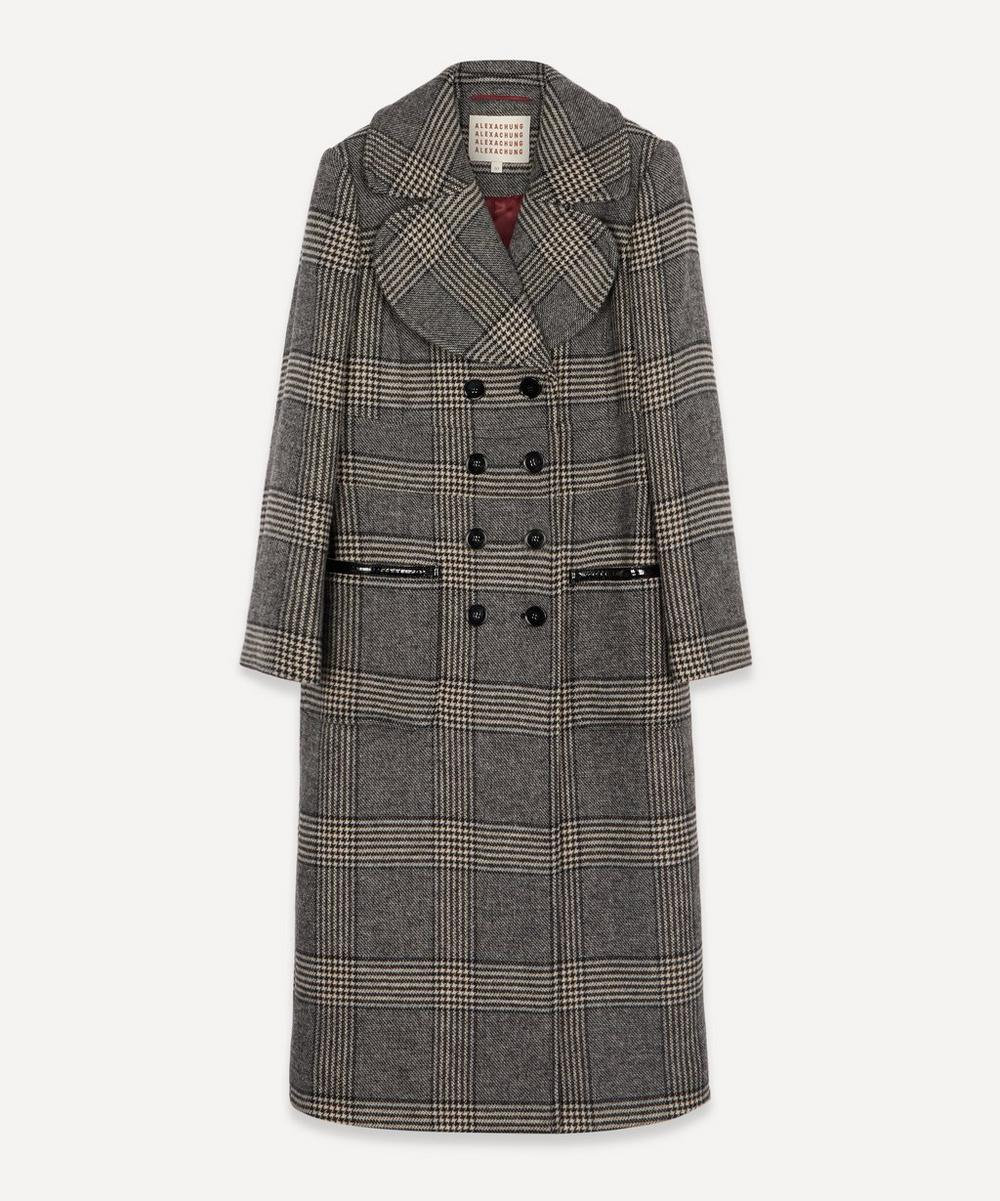 ALEXACHUNG - Check Tailored Long Coat