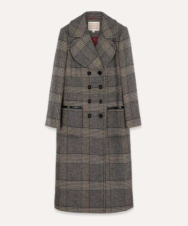 ALEXACHUNG - Check Tailored Long Coat